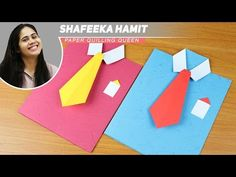 Camisa y corbata origami. Shirt and tie origami. [Día del Padre ...