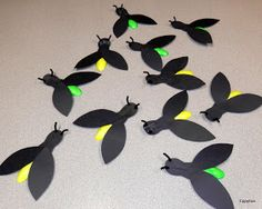 Glowing firefly craft. It really glows in the dark! Cutest craft ever for camping outdoor summer