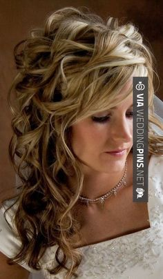 So awesome - Curly hair! | CHECK OUT MORE GREAT WEDDING HAIRSTYLES AND WEDDING HAIRSTYLE INSPIRATIONS AT WEDDINGPINS.NET | #weddings #hair #weddinghair #weddinghairstyles #hairstyles #events #forweddings #iloveweddings #romance #beauty #planners #fashion #weddingphotos #weddingpictures