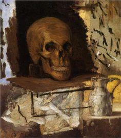 Still Life Skull and Waterjug - cezanne