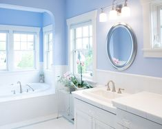 Serene Blue Bathrooms: Ideas