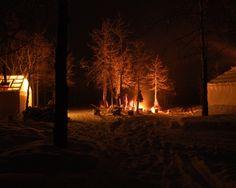 Winter camping - Yukon, Canada.