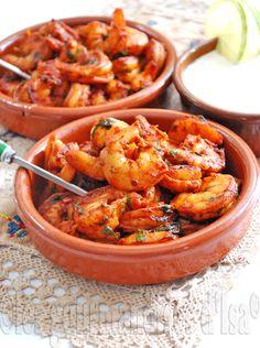 Crevettes au paprika fumé, trempette à la lime