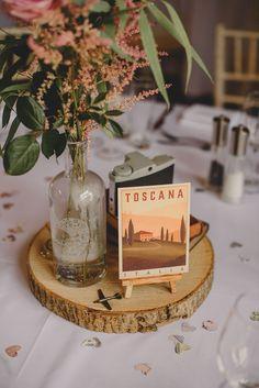 Travel Inspired Wedding Decor