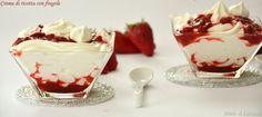la crema di ricotta con fragole è un dolce molto facile da preparare. bastano pochi minuti per ottenere un dolce al cucchiaio davvero goloso.