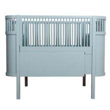 Sebra Babybett / Juniorbett Kili In Pastell Blau
