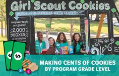 The Cookie Program helps girls grow and learn, but the sale looks different by girl–not only from a Daisy to an Ambassador, but from Brownie to Brownie. How much responsibility…Read On!Making Cents of Cookies by Program Grade Level Girl Scout Cookies Online, Best Girl Scout Cookies, Selling Girl Scout Cookies, Girl Scout Cookie Image, Girl Scout Cookie Sales, Girl Scout Leader, Girl Scout Troop, Boy Scouts, Girl Scout Badges