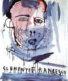 Jean-Michel Basquiat - Portrait of Francesco Clemente, c. 1980