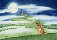 glastonbury tor and moon - Google Search