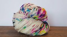 Super Moon-Hand Painted-Hand Dyed Superwash by TheHummingbirdMoon