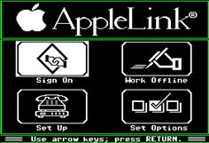 AppleLink Personal Edition, IIe screenshot America Online, Apple Ii, History, Historia