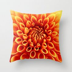 Fine Art Photography, Gorgeous Orange Dahlia - Throw Pillow Cover, Fall - Autumn Flower - Natures Symmetry - Perfection - Home Decor by PhotosByChipperfield on Etsy https://www.etsy.com/ca/listing/154772125/fine-art-photography-gorgeous-orange