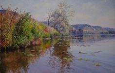 La Seine près d'une île  Oeuvre de Michèle Ratel