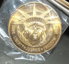 1986 Charleston Mint Statue of Liberty Solid Bronze Coin $4.99