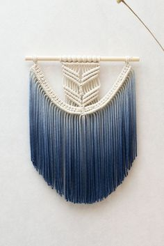 A classic wall hanging gets upgraded with dip-dyed fringe.