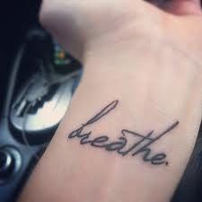 breathe tattoo   wrist