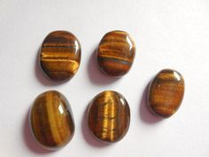 CAB Natural Gemstone Oval Cabochon Flat Back Beads For Jewelry Making Tiger Eye Beads, Jewelry Making Beads, Natural Gemstones, Ebay