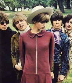 THE YARDBIRDS with a Mary Quant model