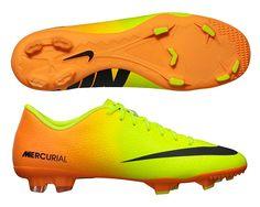 7ebe68c883 Nike Mercurial Victory IV FG Soccer Cleats (Volt Black Bright Citrus)