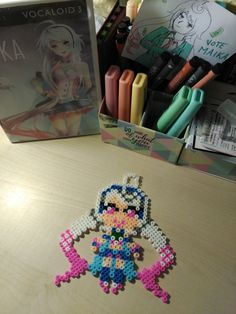MAIKA the Vocaloid, in Hama Bead.