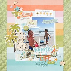 One of my favorite pages from the You Are Here collection from #simplestories #scrapbook #layout #scrapbooklayout