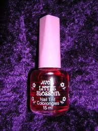 Avon Little Blossom Nail Tint. I had this nailpolish.  This picture is bringing me right back.  I can even remember the scent.