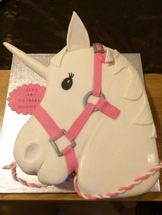 Fantastic Unicorn cake. Horse head cake. Very easy to make.