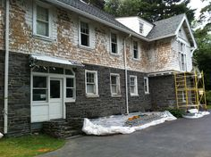 Exterior House Renovation // Ardmore, PA // Before // Windows, Doors, and Siding