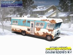 Cousin Eddie's RV Paper Model by Dave Winfield - Dave's Card Creations © www.cutandfold.info