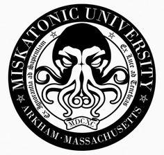 Camiseta Miskatonic University (blanca)