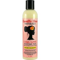 Camille Rose Naturals Curl Love Moisture Milk- I use this as a leave-in. Nice and creamy, oils and good stuff for your hair. smells so good.