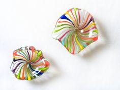 Venetian Star Magnet  Hand Blown Glass  Happy by AvolieGlass