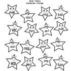 Simple coloring worksheet for students to practice Nonsense Word Fluency. (free!!)