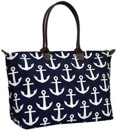 Monogrammed Anchor Tote /Personalized Large Anchor weekeneder/Shopping Bag/Tote Bag/handbag by sewsassybootique on Etsy Weekender Bags, Tote Bags, Large Tote, Anchor, Shopping Bag, Monogram, Handle, Drop, Purses