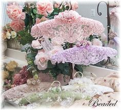 Romantic Victorian Home Collection: Victorian Accessories....Pearls & Lace Pretty Hangers