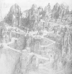 alan_lee_the lord of the rings_sketchbook_16_the stewards tomb01.jpg (1555×1600)