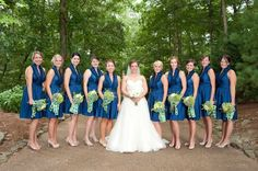 Blue & Green Wedding Theme