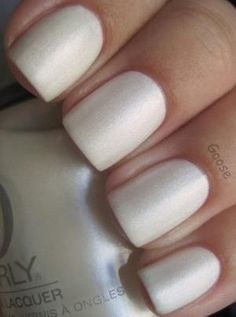 PEARL White nails Matte pearl! This is perfect for my friend!! by rachelpp