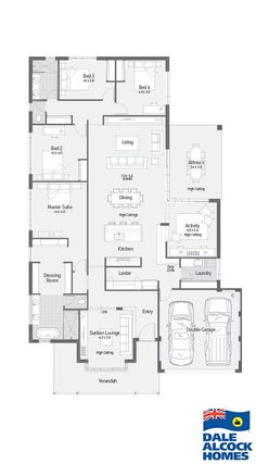 Explore our range of award winning home designs here. Choose your dream home design now with Dale Alcock. Available in Perth or the South-West. Best House Plans, Dream House Plans, House Floor Plans, Workout Room Home, Home Design Floor Plans, House Blueprints, Sims House, Good House, Suites