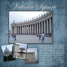 Rome - St. Peters Square - Pg 4 - Scrapbook.com