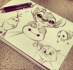 Cute Disney Drawings T...