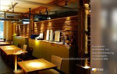 MSD-Holzdesignpaneel Plywood von StoneslikeStones in der Gastronomie - 00172