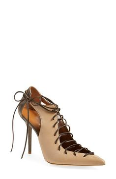 MALONE SOULIERS 'Montana' Lace-Up Pointy Toe Pump (Women) available at #Nordstrom
