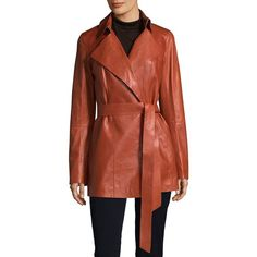 Lafayette 148 New York Hadley Trench Coat (2.255 RON) ❤ liked on Polyvore featuring outerwear, coats, red coat, belted coat, red trench coat, belted trench coat and lafayette 148 new york