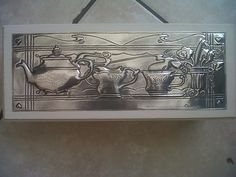 pewter tea box