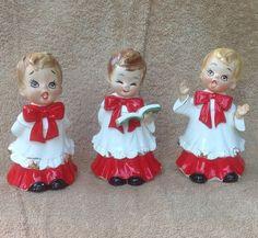 VTG JOSEF ORIGINALS 3 CHOIR BOYS CHRISTMAS CAROLERS FIGURINES | eBay