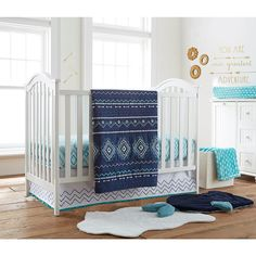 Levtex Baby Little Feather 5 Piece Crib Bedding Set Aqua Babies R Us Fea