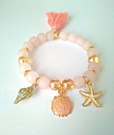 Diy Bracelets Easy, Cute Bracelets, Gemstone Bracelets, Handmade Bracelets, Jewelry Bracelets, Handmade Jewelry, Cute Jewelry, Beaded Jewelry, Crystal Jewelry