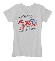 Ltd Edition Animal Kingdom  Light Heather Grey T-Shirt Front