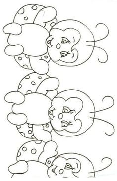 Galeria Mimos e Artes: Riscos Blackwork Patterns, Embroidery Patterns, Tole Painting, Fabric Painting, Animal Coloring Pages, Coloring Books, Blue Nose Friends, Quilt Border, Stuffed Animal Patterns
